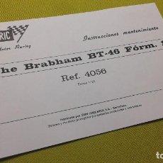Scalextric: EXIN INSTRUCCIONES MANTENIMIENTO BRABHAM BT-46 REF- 4056. Lote 109028723