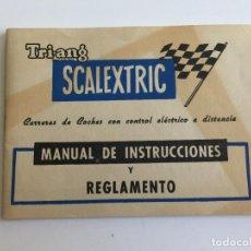 Scalextric: MANUAL DE INSTRUCCIONES Y REGLAMENTO DE SCALEXTRIC ORIGINAL DE EXIN LIBRITO LIBRO. Lote 109452575