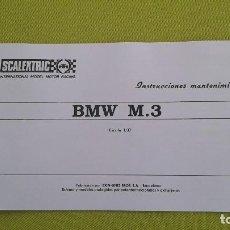 Scalextric: EXIN HOJA INSTRUCCIONES MANTENIMIENTO COCHE BMW M3. Lote 269460048