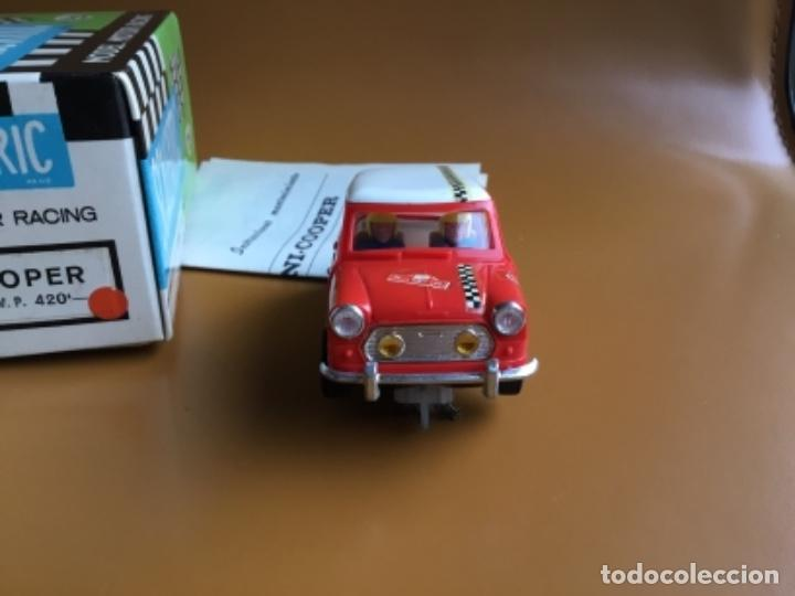 Scalextric: SCALEXTRIC EXIN. MINI COOPER ROJO CLARO . Con caja e instrucciones . Casco abierto. Muy bueno. - Foto 4 - 122192323