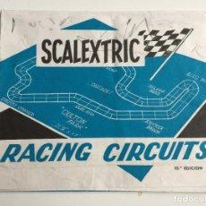 Scalextric: RACING CIRCUITS 10 EDICION FOLLETO ORIGINAL DE EXIN. Lote 111510587