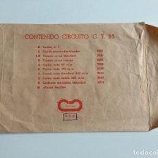 Scalextric: GT23 GT-23 SOBRE DE CIRCUITO ORIGINAL DE EXIN . Lote 111510915