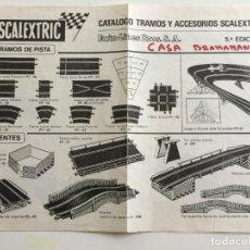 Scalextric: CATÁLOGO TRAMOS Y ACCESORIOS SCALEXTRIC 5ª EDICIÓN ORIGINAL DE EXIN. Lote 111681943