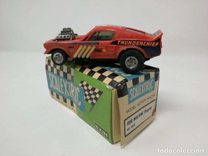FORD MUSTANG DRAGSTER ROJO REF 4049 EXIN CON CAJA. COCHE SCALEXTRIC (Juguetes - Slot Cars - Scalextric Exin)