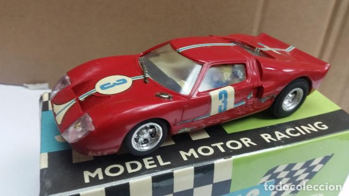 Scalextric Exin Original Ford Gt C En Caja Rojo Juguetes Slot Cars Scalextric