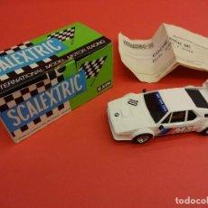 Scalextric: SCALEXTRIC. EXIN. BMW M-1 BLANCO. ORIGINAL EN SU CAJA. MUY BUEN ESTADO. Lote 115073783