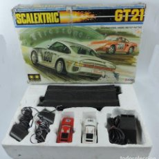 Scalextric: CAJA DE SCALEXTRIC EXIN GT 21, CON LOS PORSCHE 959 ROJO Y BLANCO, (LE FALTAN LOS RETROVISORES), LA C. Lote 120280755
