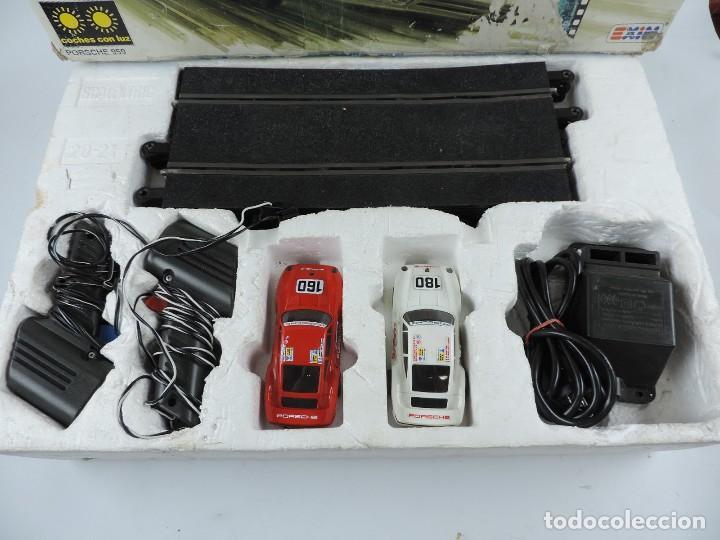 Scalextric: CAJA DE SCALEXTRIC EXIN GT 21, CON LOS PORSCHE 959 ROJO Y BLANCO, (le faltan los retrovisores), LA C - Foto 2 - 120280755