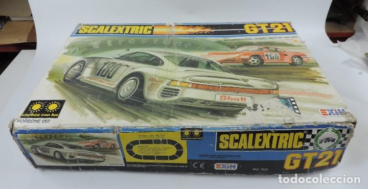 Scalextric: CAJA DE SCALEXTRIC EXIN GT 21, CON LOS PORSCHE 959 ROJO Y BLANCO, (le faltan los retrovisores), LA C - Foto 15 - 120280755