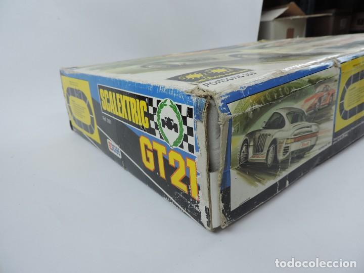 Scalextric: CAJA DE SCALEXTRIC EXIN GT 21, CON LOS PORSCHE 959 ROJO Y BLANCO, (le faltan los retrovisores), LA C - Foto 17 - 120280755