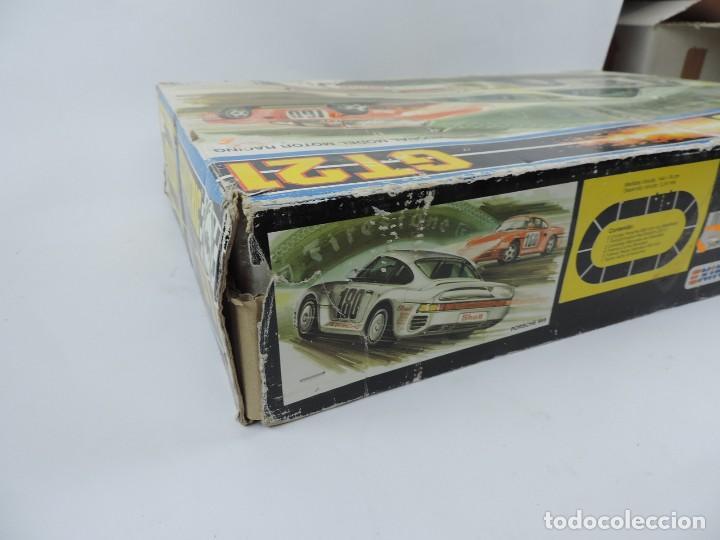 Scalextric: CAJA DE SCALEXTRIC EXIN GT 21, CON LOS PORSCHE 959 ROJO Y BLANCO, (le faltan los retrovisores), LA C - Foto 18 - 120280755