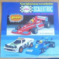 Scalextric: LAS FABULOSAS NOVEDADES SCALEXTRIC LOTE 3 A TODO COLOR CON TODAS LA NOVEDADES. Lote 120814747