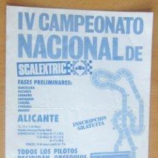 Scalextric: IV CAMPEONATO NACIONAL DE SCALEXTRIC ALICANTE. Lote 120815035