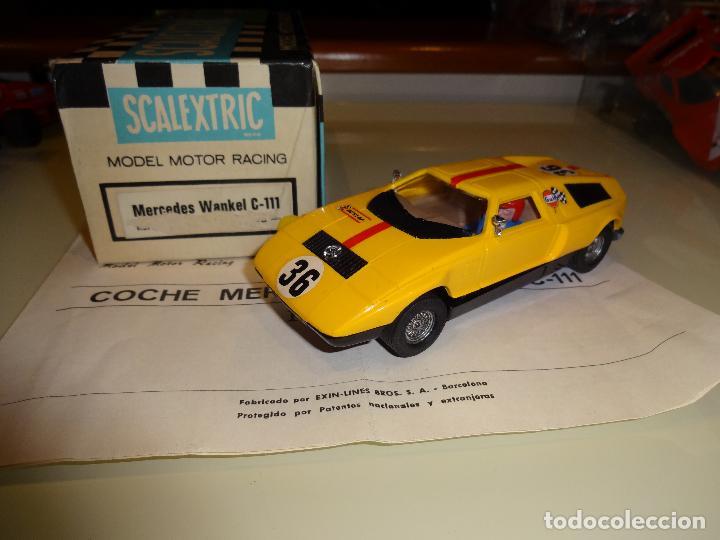 SCALEXTRIC. Exin. Mercedes Wankel amarillo. Ref. C-44 segunda mano