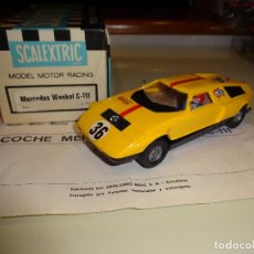 Scalextric: SCALEXTRIC. EXIN. MERCEDES WANKEL AMARILLO. REF. C-44. Lote 120985787