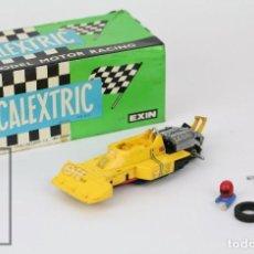 Scalextric: COCHE SCALEXTRIC EXIN CON CAJA - TYRRELL FÓRMULA 1 P-34 - AMARILLO, REF. 4054 - PIEZAS/RESTAURACIÓN. Lote 121338723