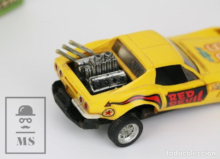 Scalextric: Coche Scalextric Exin con Caja - Chevrolet Corvette Dragster - Amarillo, Ref. 4050 - Restauración - Foto 4 - 121339643