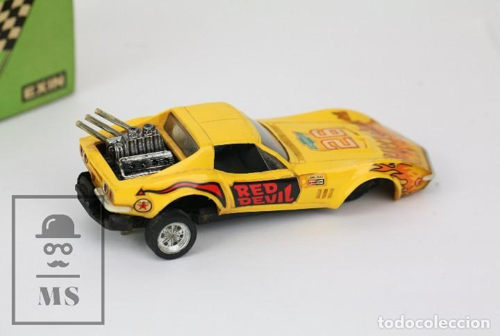 Scalextric: Coche Scalextric Exin con Caja - Chevrolet Corvette Dragster - Amarillo, Ref. 4050 - Restauración - Foto 5 - 121339643