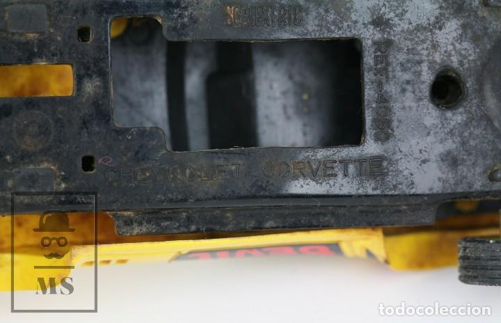 Scalextric: Coche Scalextric Exin con Caja - Chevrolet Corvette Dragster - Amarillo, Ref. 4050 - Restauración - Foto 7 - 121339643
