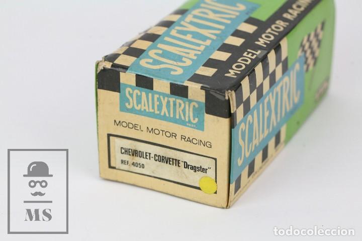 Scalextric: Coche Scalextric Exin con Caja - Chevrolet Corvette Dragster - Amarillo, Ref. 4050 - Restauración - Foto 8 - 121339643