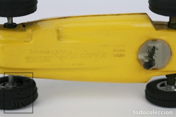 Scalextric: Coche Scalextric / Triang - Cooper Fórmula 1 - Amarillo - Años 60-70 - Piezas o Restauración - Foto 8 - 121340859