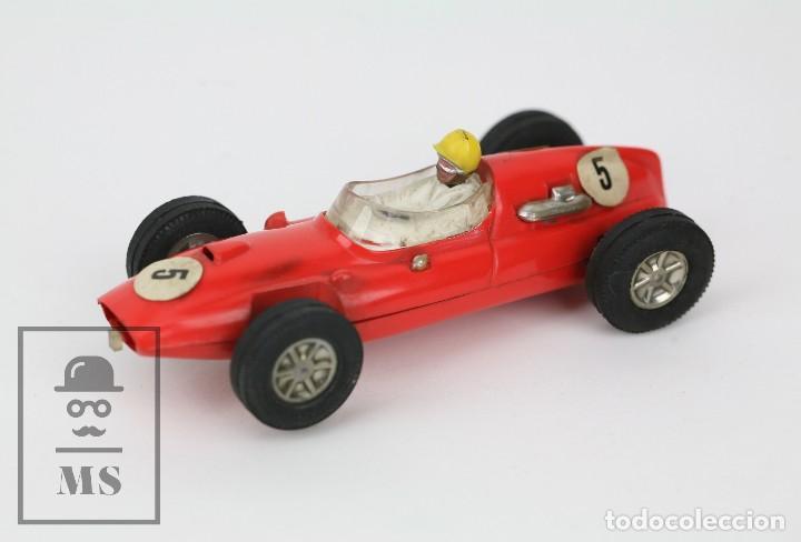 COCHE SCALEXTRIC / TRIANG - COOPER FÓRMULA 1 - ROJO ANARANJADO - AÑOS 60-70 - PIEZAS O RESTAURACIÓN (Juguetes - Slot Cars - Scalextric Exin)