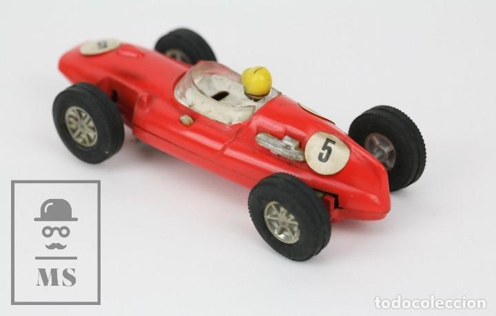 Scalextric: Coche Scalextric / Triang - Cooper Fórmula 1 - Rojo Anaranjado - Años 60-70 - Piezas o Restauración - Foto 4 - 121341255