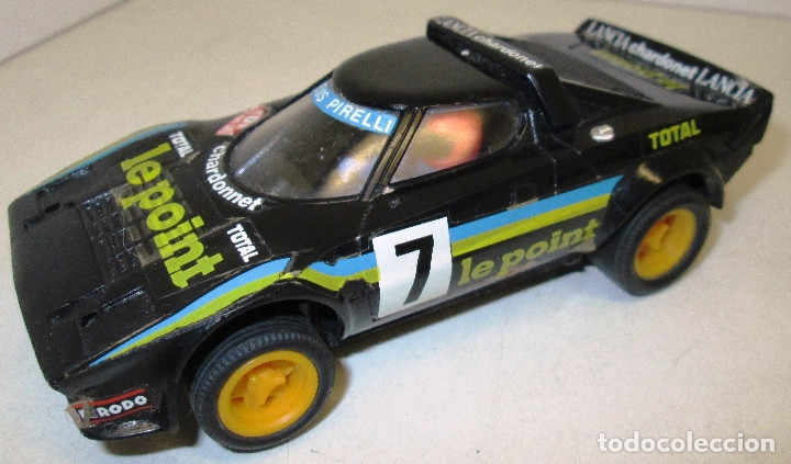 SCALEXTRIC EXIN LANCIA STRATOS NEGRO LE POINT REF. 4055/4065 (Juguetes - Slot Cars - Scalextric Exin)