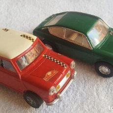 Scalextric: SEAT TC 850 COUPE VERDE EXIN C-42 1969 Y MINI COOPER C-45 (COCHES SIN MOTOR). Lote 128337563