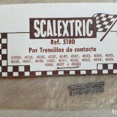 Scalextric: PAR DE TRENCILLAS ESTAÑADAS DE EXIN REFERENCIA 5180 BLISTER. Lote 144665785