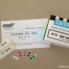 Scalextric: INSTRUCCIONES, ETIQUETAS, EXIN SCALEXTRIC, TC 600. Lote 130596894
