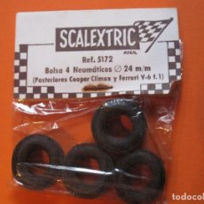Scalextric: NEUMÁTICOS TRASEROS COOPER CLIMAX Y FERRARI V6 SCALEXTRIC EXIN. Lote 130993220