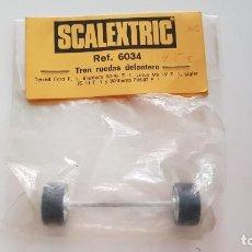 Scalextric: TYRRELL FORD LOTUS WILLIAMS BRABHAM REF 6034 EJE DELANTERO ORIGINAL BLISTER. Lote 131338826