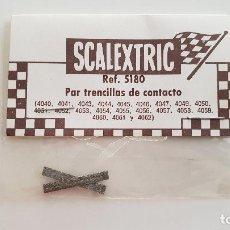Scalextric: PAR DE TRENCILLAS DE CONTACTO EN BLISTER ESTAÑADAS EXIN REF 5180. Lote 146529872