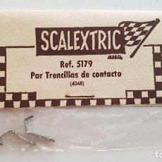 Scalextric: PAT DE TRENCILLAS DE CONTACTO ESTAÑADAS BLISTER EXIN REF 5179. Lote 182110252