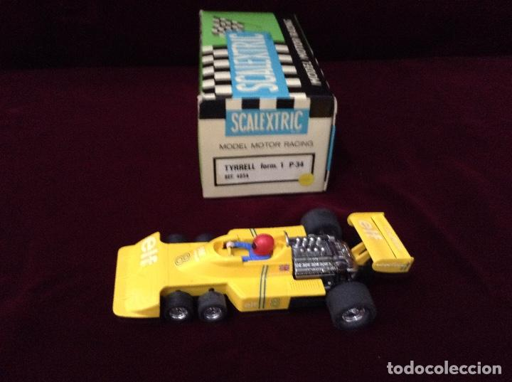 SCALEXTRIC EXIN TYRRELL AMARILLO 4054 ORIGINAL (Juguetes - Slot Cars - Scalextric Exin)