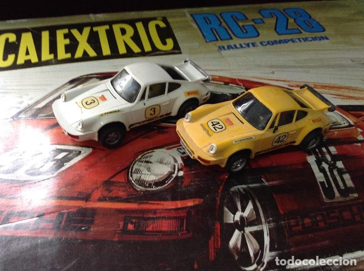 Scalextric: Circuito scalextric r c 28 exin con los dos coches - Foto 10 - 132456270
