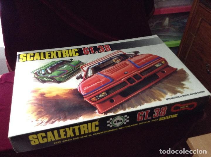 SCALEXTRIC CIRCUITO GT 38 CON SUS DOS COCHES EXIN AÑOS 80 (Juguetes - Slot Cars - Scalextric Exin)