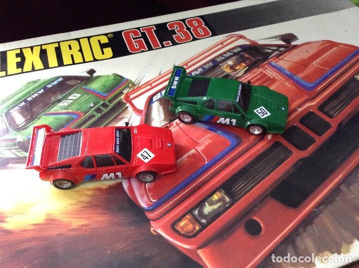 Scalextric: Scalextric circuito gt 38 con sus dos coches exin años 80 - Foto 6 - 132456766