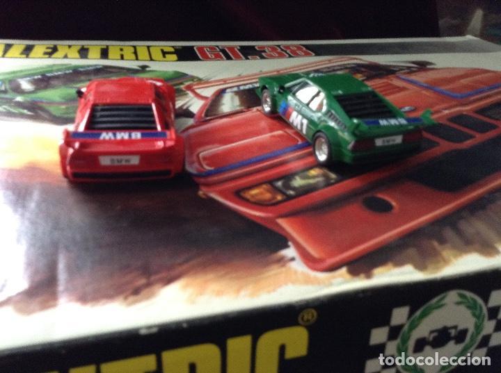 Scalextric: Scalextric circuito gt 38 con sus dos coches exin años 80 - Foto 8 - 132456766