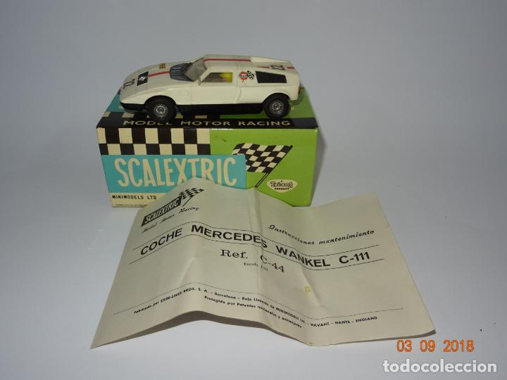 Scalextric: Antiguo MERCEDES C-111 WANKEL Ref. C-44 de Scalextric Exin - Foto 3 - 132525834