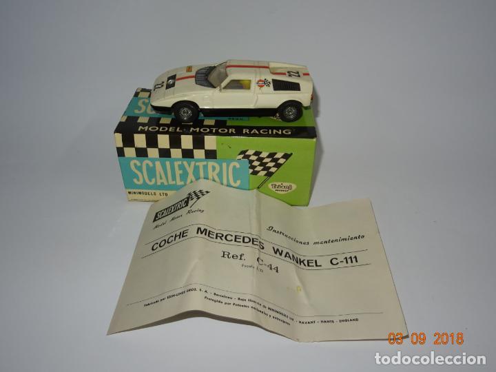 Scalextric: Antiguo MERCEDES C-111 WANKEL Ref. C-44 de Scalextric Exin - Foto 5 - 132525834