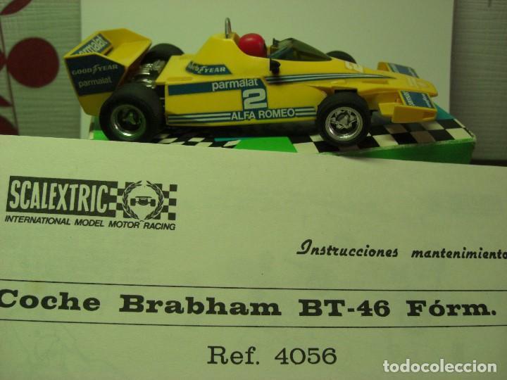 Scalextric: BRABHAM Amarillo Con caja e instrucciones (todo original). - Foto 2 - 132935806