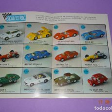 Scalextric: ANTIGUO FOLLETO CATALOGO MODEL MOTOR RACING DE SCALEXTRIC EXIN - AÑO 1969. Lote 133170110