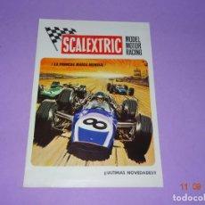 Scalextric: ANTIGUO FOLLETO CATALOGO MODEL MOTOR RACING DE SCALEXTRIC EXIN DEL AÑO 1970. Lote 133170442