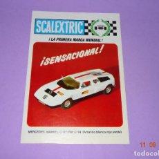 Scalextric: ANTIGUO FOLLETO CATALOGO MODEL MOTOR RACING CON NOVEDAD MERCEDES WANKEL DE SCALEXTRIC EXIN AÑO 1971. Lote 133170770