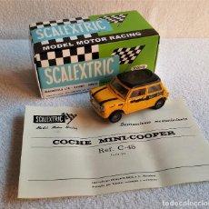 Scalextric: SCALEXTRIC EXIN COCHE MINI COOPER - MOVI COOPER REF: C-45 CON SU CAJA + INSTRUCIONES MANTENIMIENTO. Lote 133564478