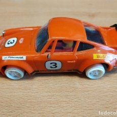 Scalextric: SCALEXTRIC EXIN PORSCHE CARRERA RS. REF. 4051/4066. EXIN MADE IN SPAIN. INCOMPLETO. MOTOR FUNCIONA. Lote 134083594