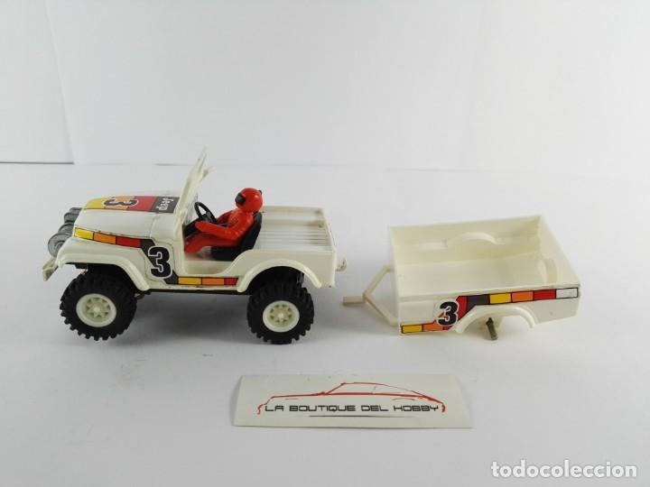 JEEP CJ-5 CON REMOLQUE SCALEXTRIC STS EXIN 2200 + 2202 (Juguetes - Slot Cars - Scalextric Exin)