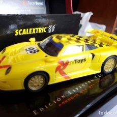 Scalextric: SCALEXTRIC MUY RARO PORSCHE 911 PRESENTACION DE TECNITOYS MUY POCAS UNIDADES A TIENDA. Lote 136270174
